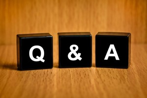 Q and A Block Letters